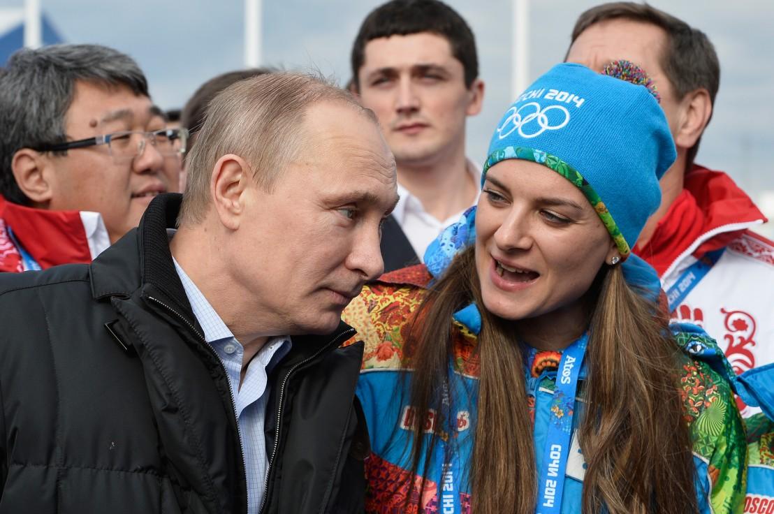 владимир путин,елена исинбаева,сочи 2014