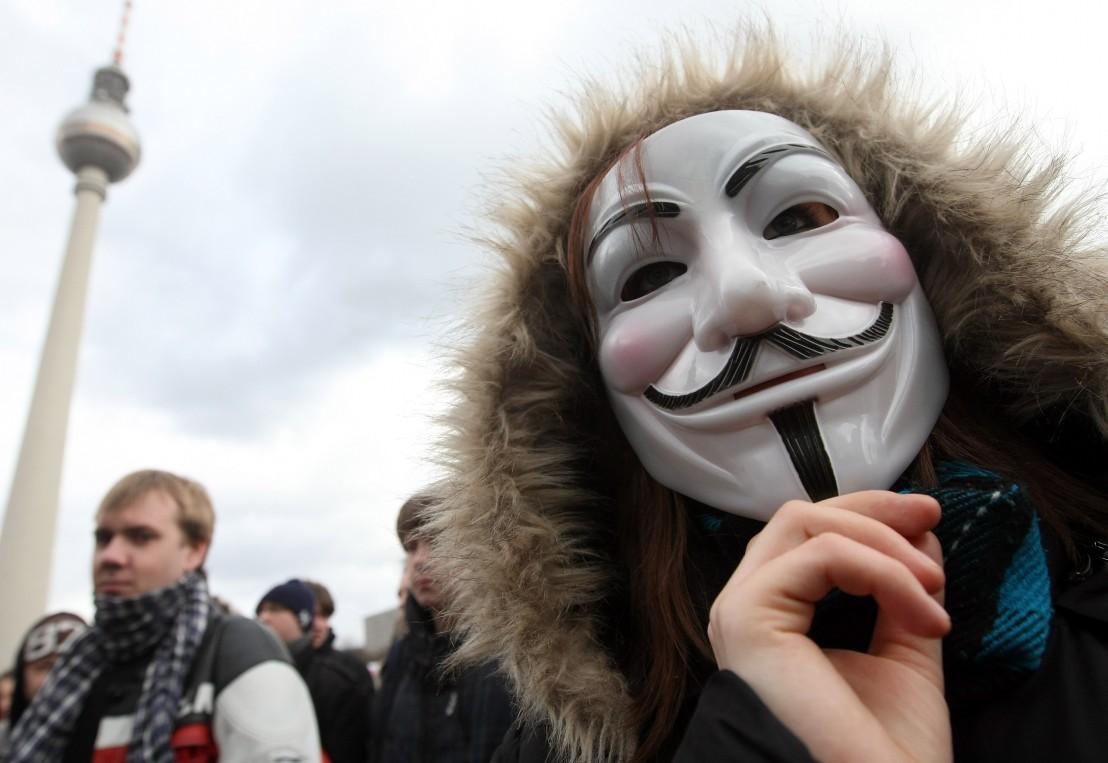 анонимните, хакери, маска