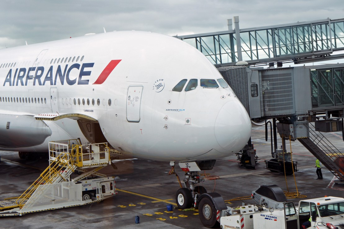 Air France A380 at Charles De Gaulle International Airport