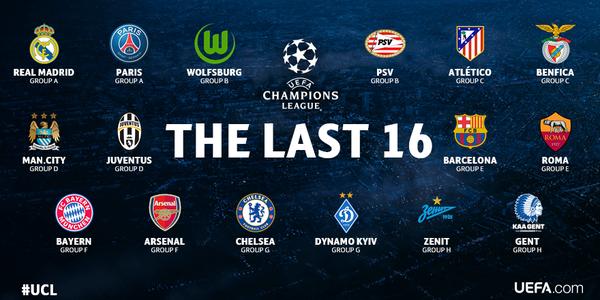 осминафинали,шампионска лига 2015