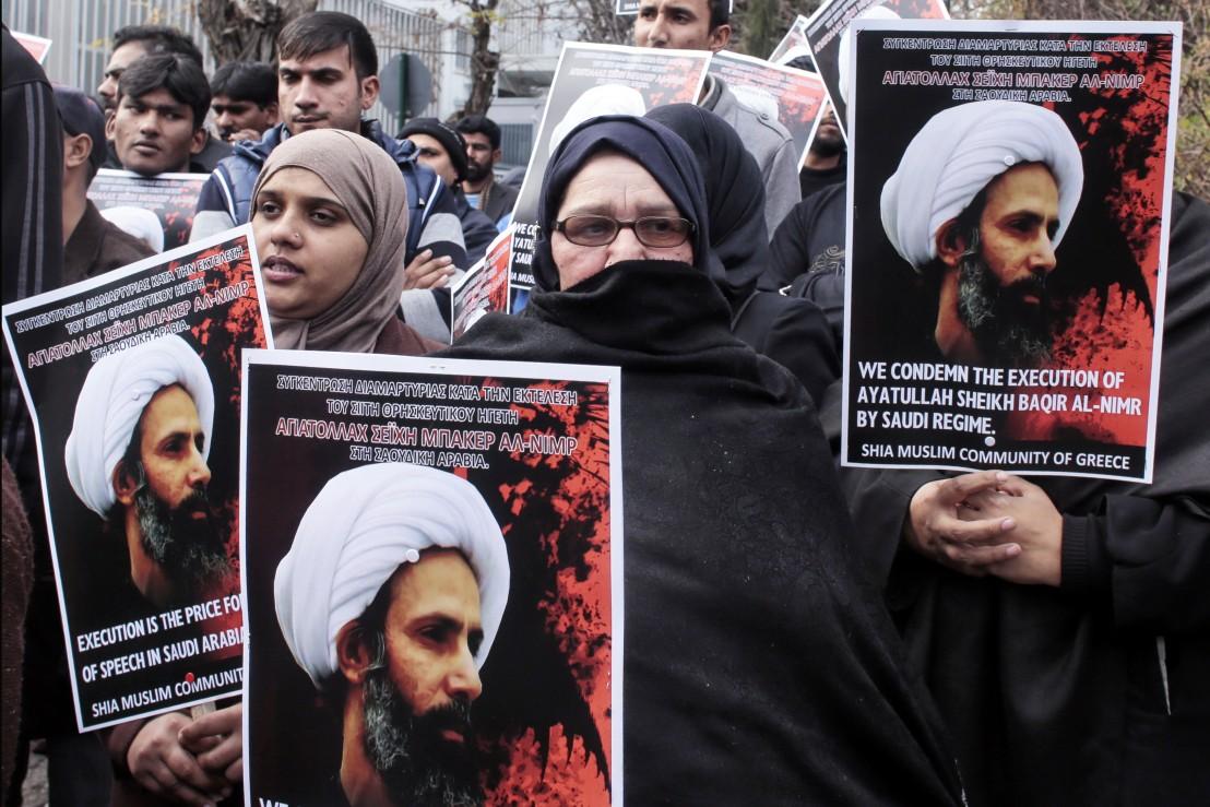 Протестиращи срещи екзекуцията на шиитски водач в Саудитска Арабия, защитници на Иран
