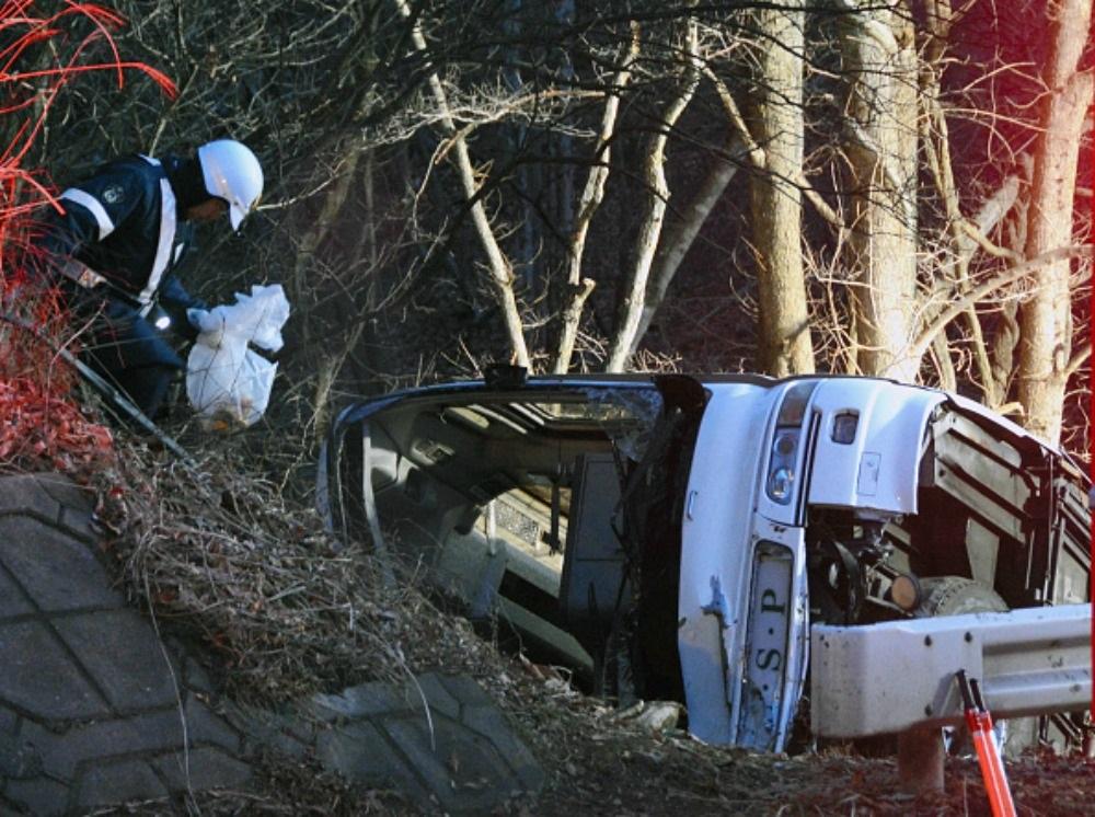 катастрофа, япония, автобус