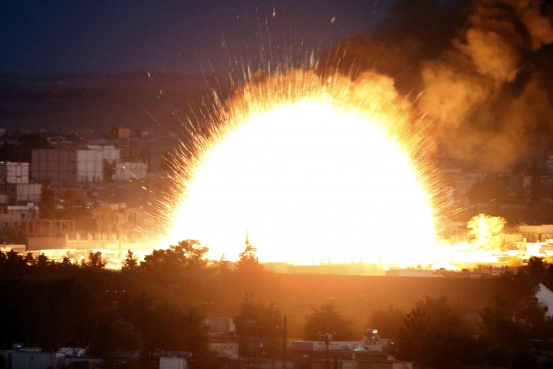 сирия, кобани, експлозия, идил, кола бомба