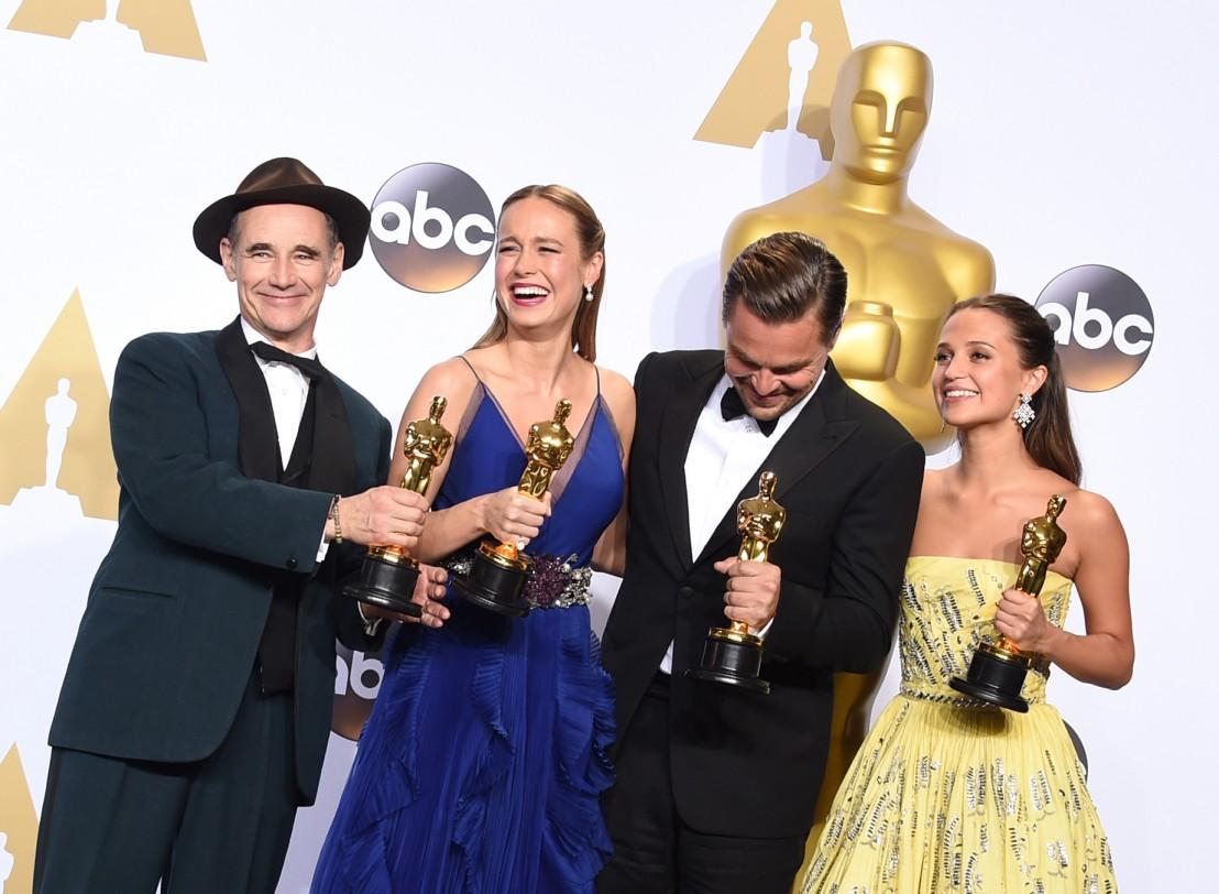 Оскар 2016 Леонардо Ди Каприо Алисия Викандер Бри Ларсън Марк Райлънс