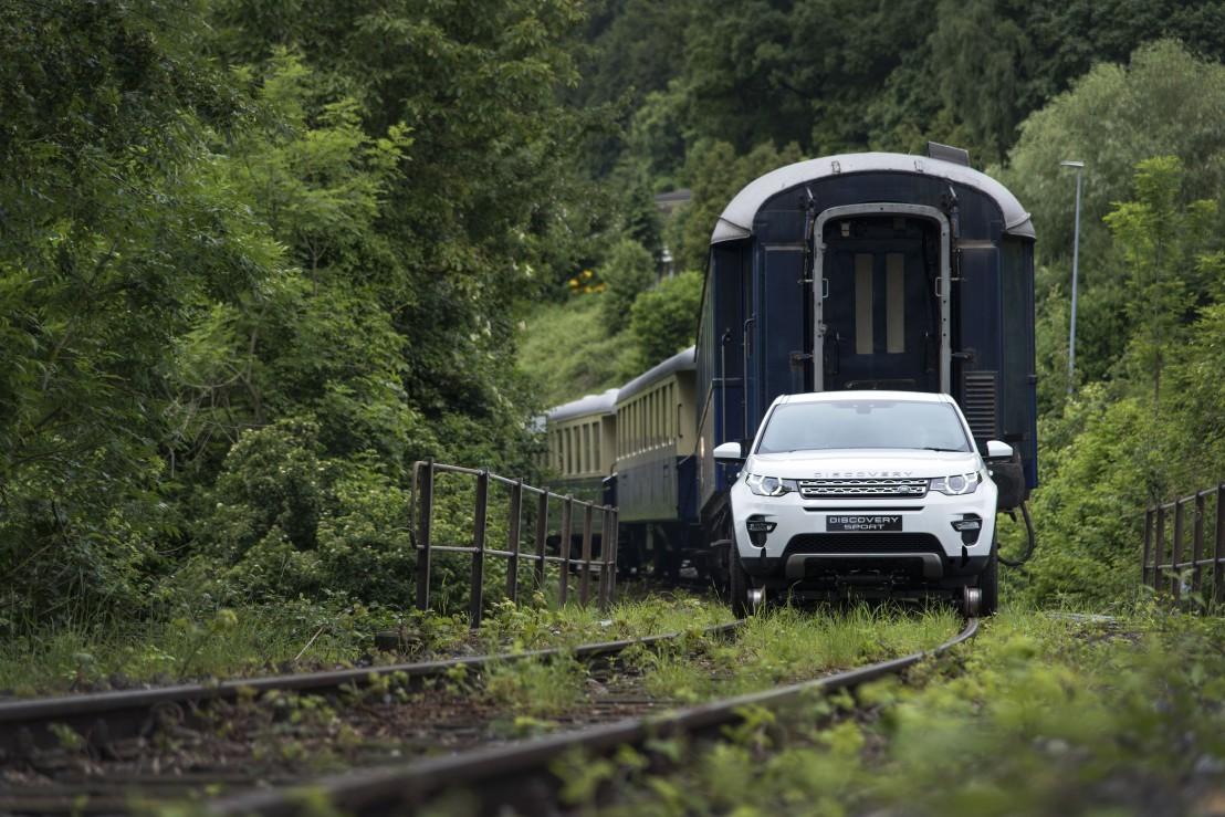 Land rover, влак, автомобил
