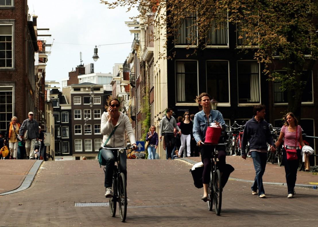 колело, колело в града, велосипед, велосипедист