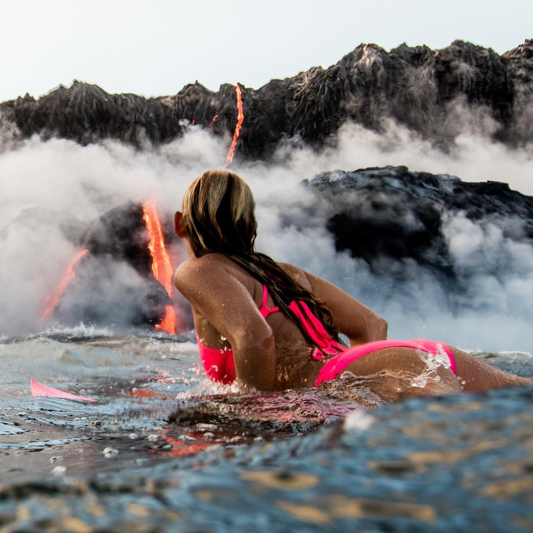 вулкан, сърф