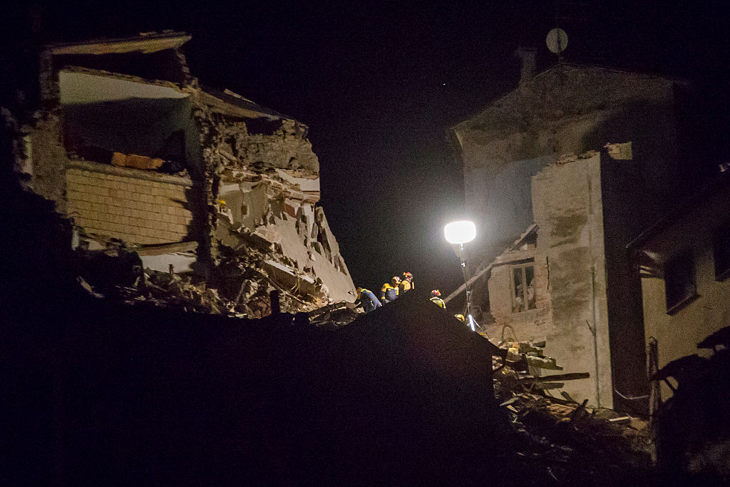 First night after the earthquake in Arquata del Tronto