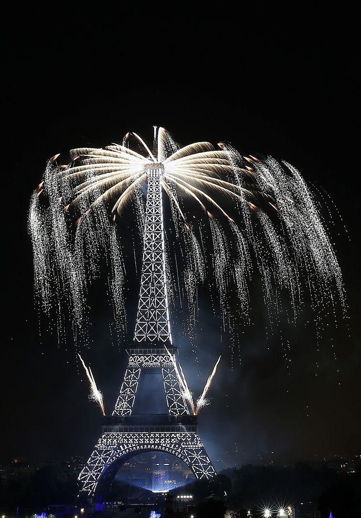 2016 Bastille Day Fireworks At Eiffel Tower In Paris