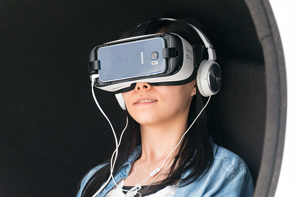 Google VR or virtual reality headsets are promoted by Bell