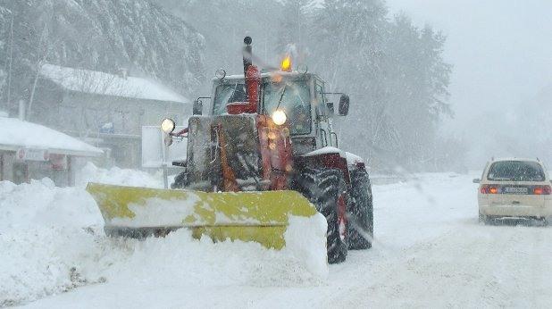 пътища, сняг