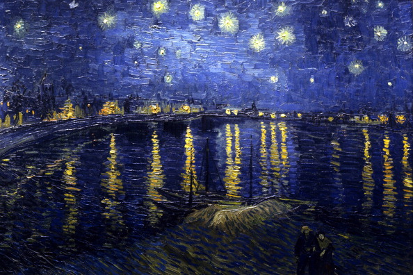 Starry Night Over the Rhone (September 1888) by Vincent Willem van Gogh (30 March 1853 - 29 July 1890), Dutch post-Impressionist painter.