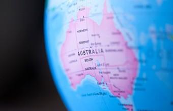 Австралия континент, глобус