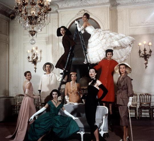модели на Кристиян Диор през 50-те
