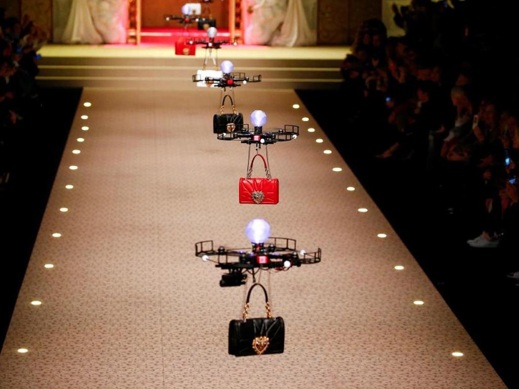 drones on podium