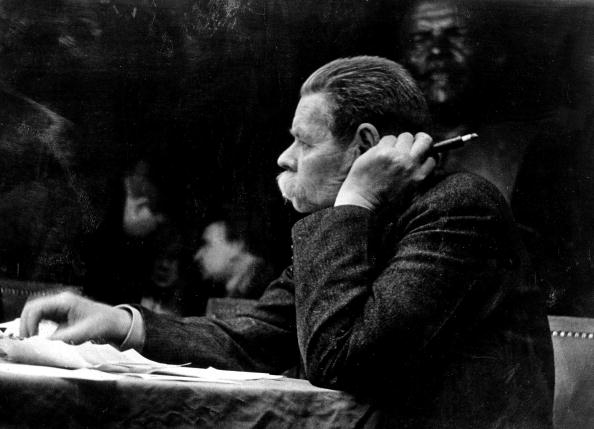 29th, April, 1936, Maxim Gorki the Russian writer pictured at a Moscow writer's conference