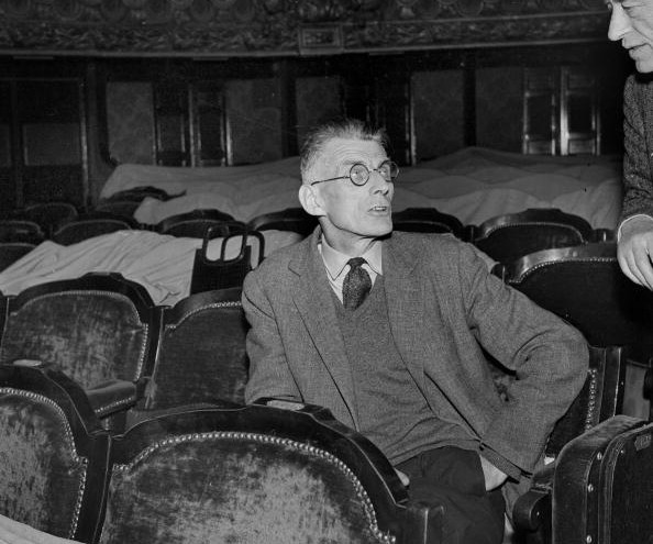 Samuel Beckett being at a rehearsal of Waiting f