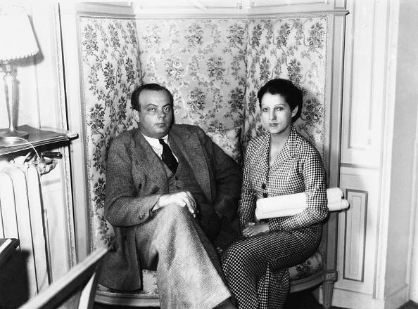Antoine De Saint-Exupery And His Wife Consuelo Gomez Carillo De Saint-Exupery In Paris