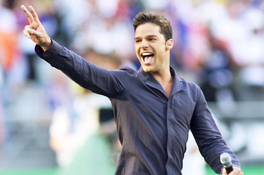 Portorican singer Ricky Martin performs 12 July on
