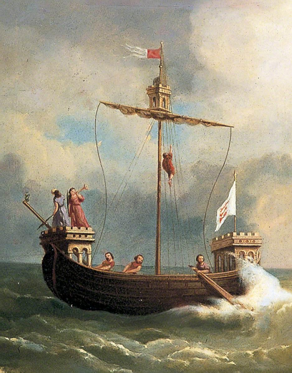 Terry, W. J.; Cinque Ports Ship at Sea