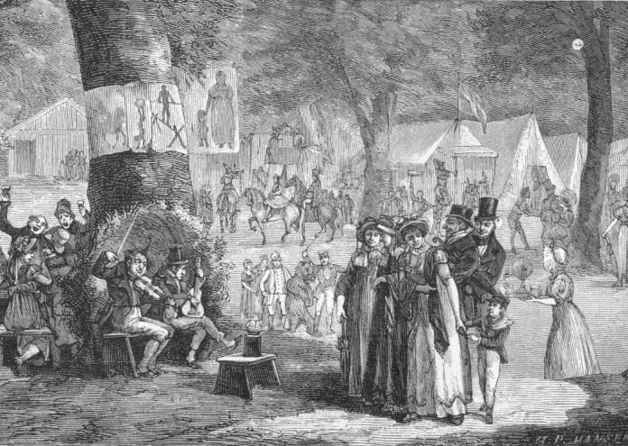 Dyrehavsbakken_i_1800-tallet