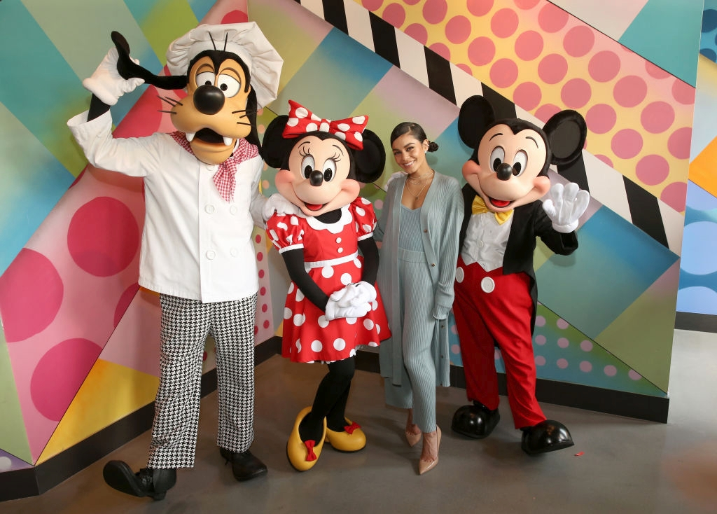 Vanessa Hudgens Celebrates Opening Of Black Tap Craft Burgers & Shakes At Disneyland Resort