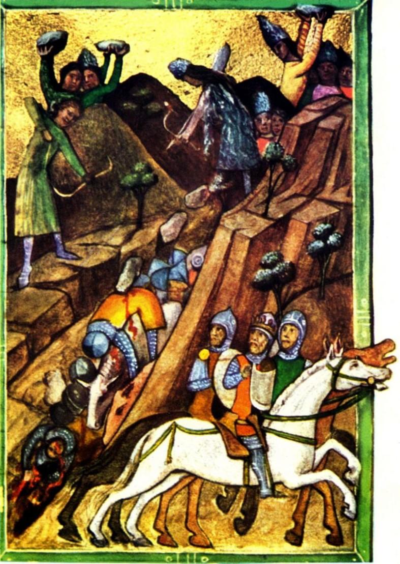 Битката при Посада, 1330 г., в която румънците разбиват унгарските рицари и извоюват независимост