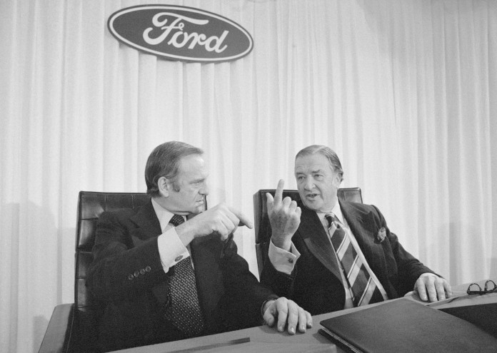 Henry Ford II Speaking with Lee Iacocca