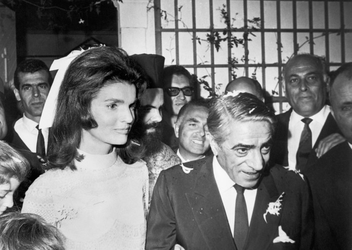 Newlyweds Jacqueline and Aristotle Onassis