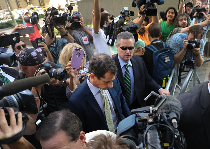 Former Rep. Anthony Weiner Sentenced For Sexting With Minor