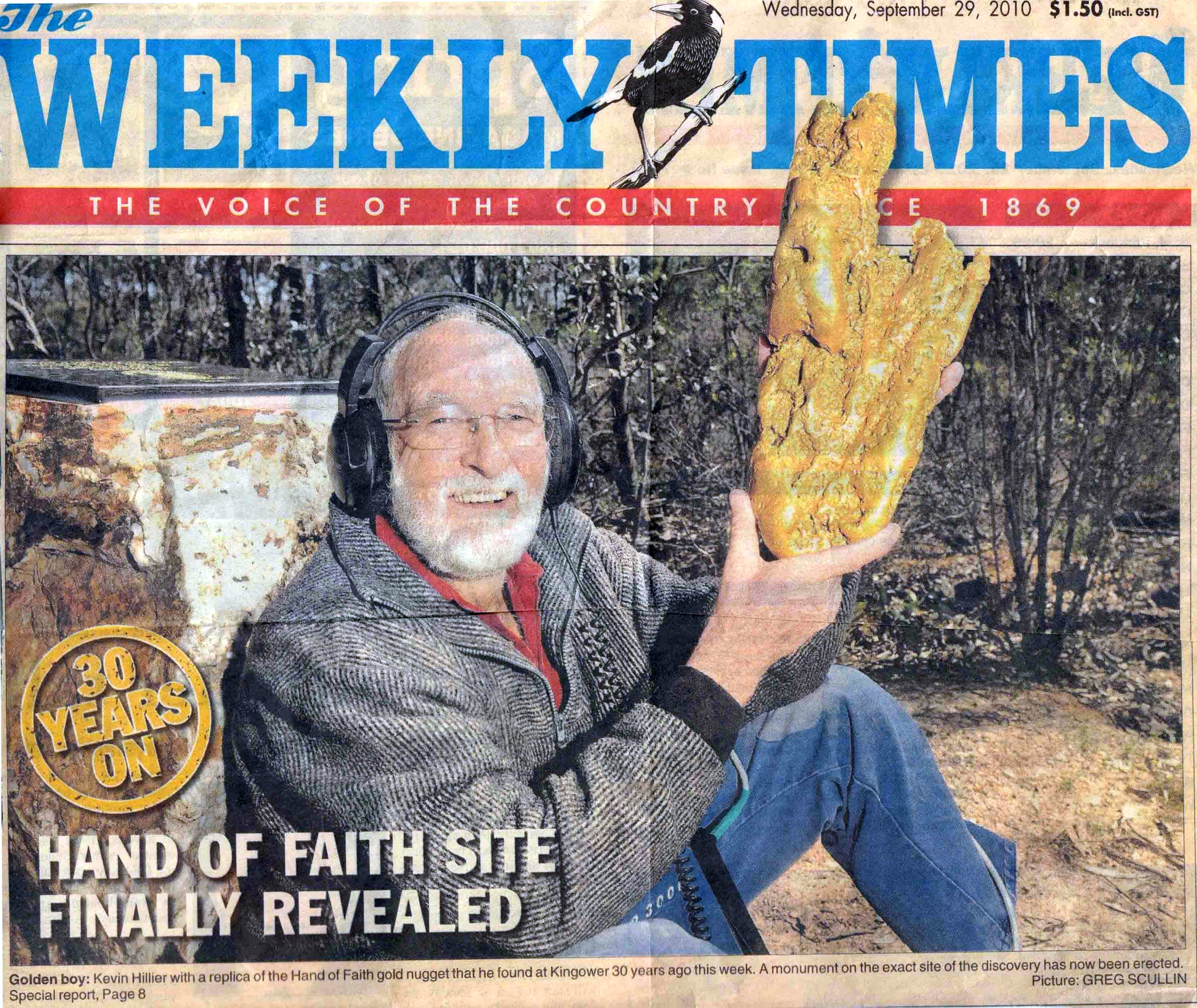 kevin-hillier-with-hand-of-faith-gold-nugget-on-weekly-times-cover