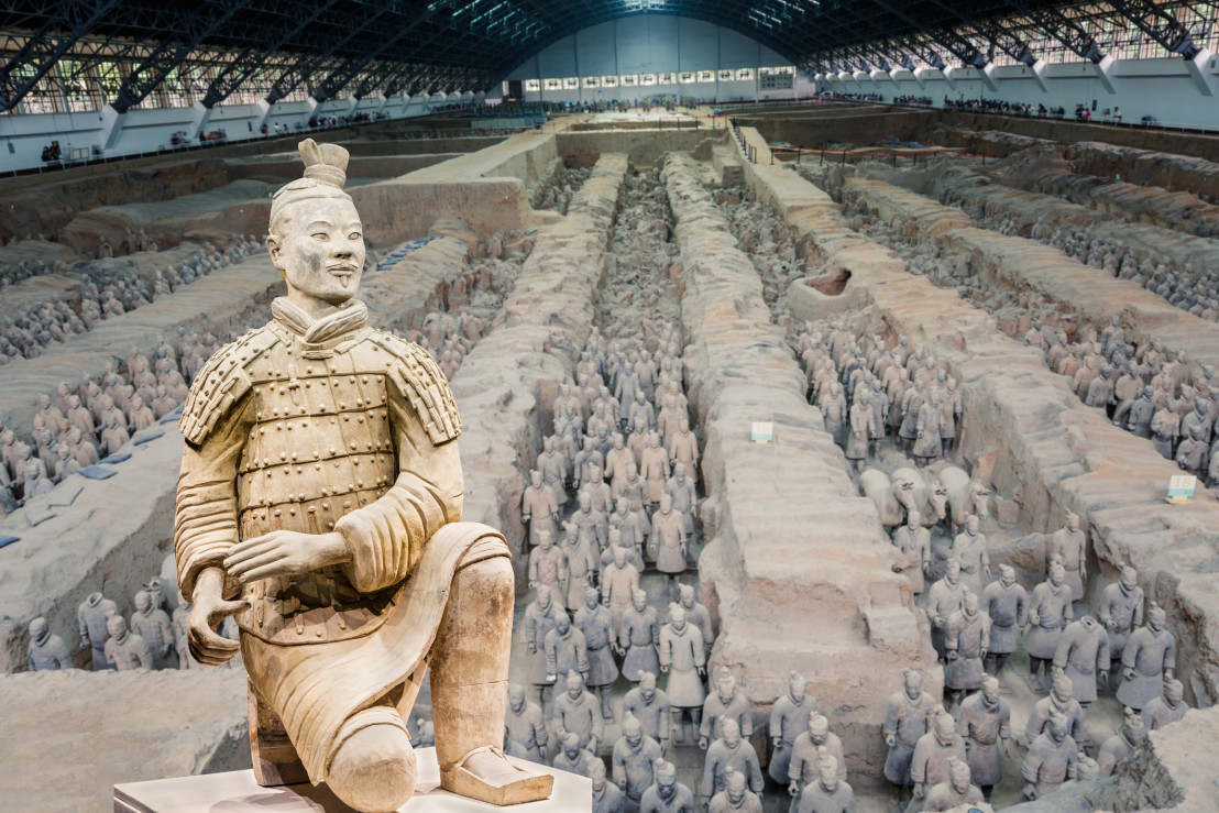 qin shihuang terracotta warriors,Statue,terracotta Soldiers,Xi'an,China - East Asia