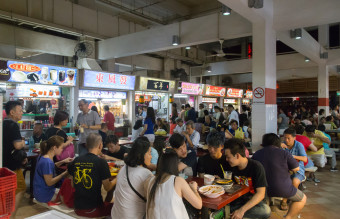 Lau Pa Sat Foodcourt in Singapore
