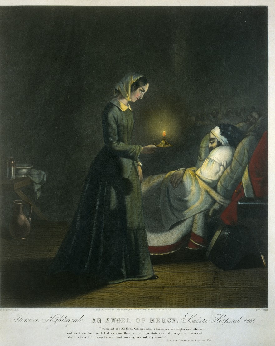 L0019661 Coloured mezzotint: Florence Nightingale,