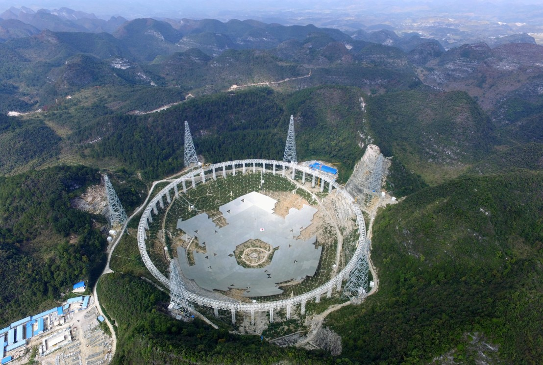 World's Largest Radio Telescope Under Construction