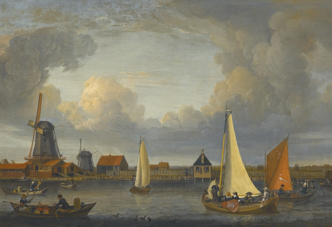 Abraham_Storck_-_A_river_landscape_with_fishermen_in_rowing_boats_(1679)