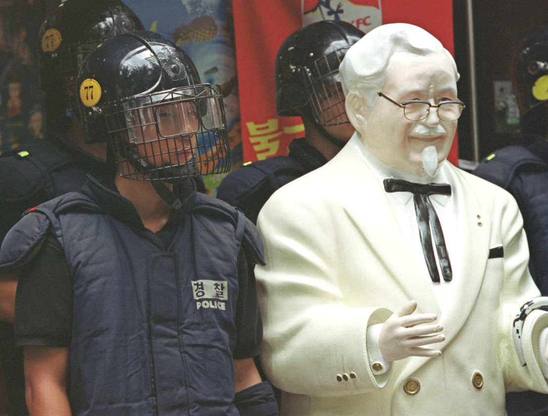 Tempers Flare at Anti-Japan Rally in Seoul