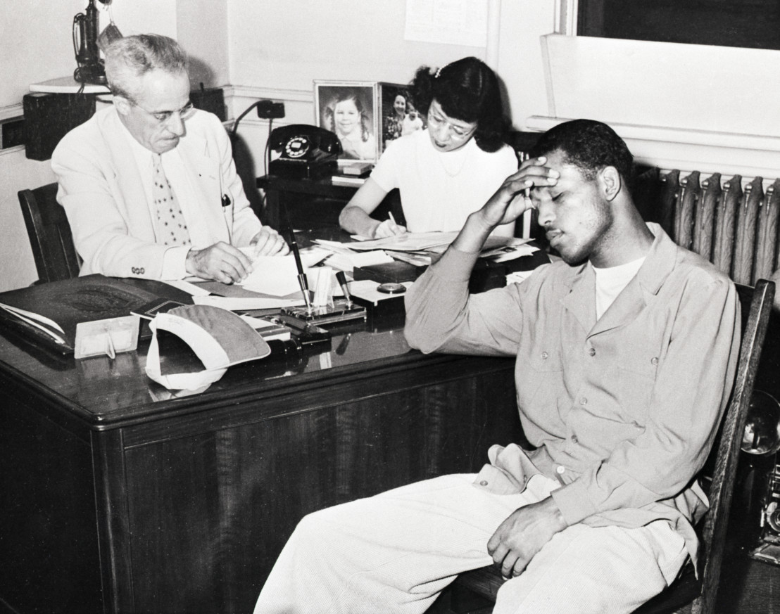 Sugar Ray Robinson Being Questioned by Coroner