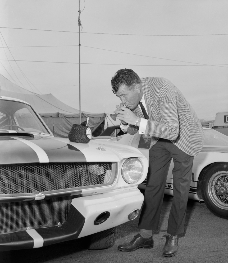 Sports Car Designer Carroll Shelby Promoting New Mustang