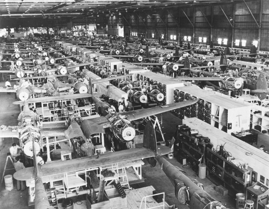 Mechanized_P-38_conveyor_lines