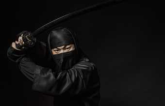 Ninja with Japanese sword
