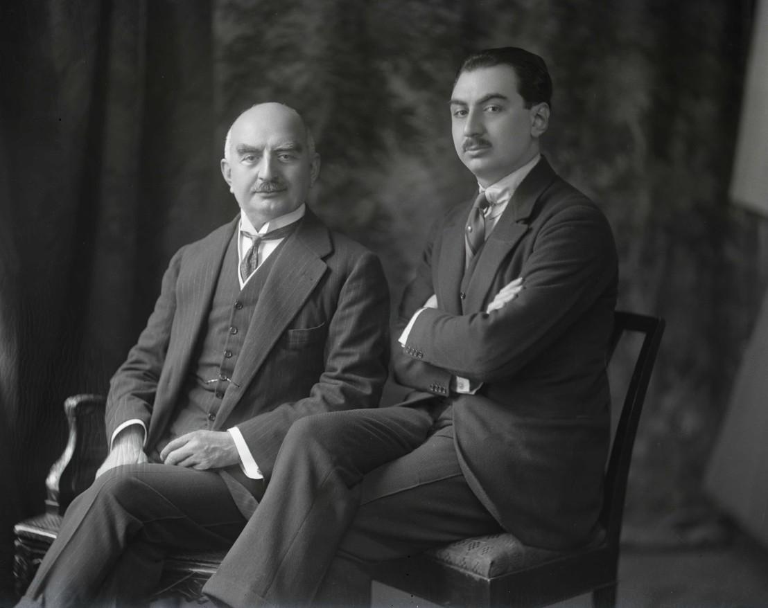 Calouste Gulbenkian and his son.