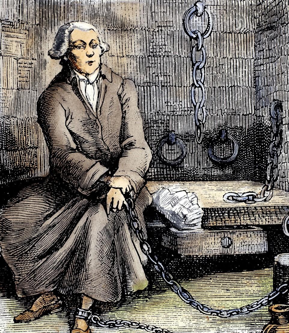 Marquis de Sade, Schriftsteller, Frankreich - im gefängnis