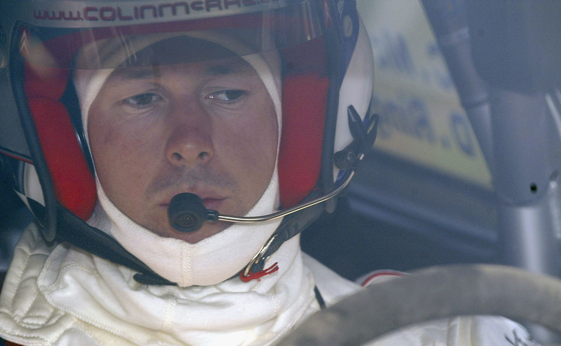 Colin McRae of Great Britain drives his Citroen Xsara