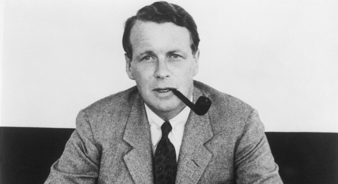 David Ogilvy with Smoking Pipe