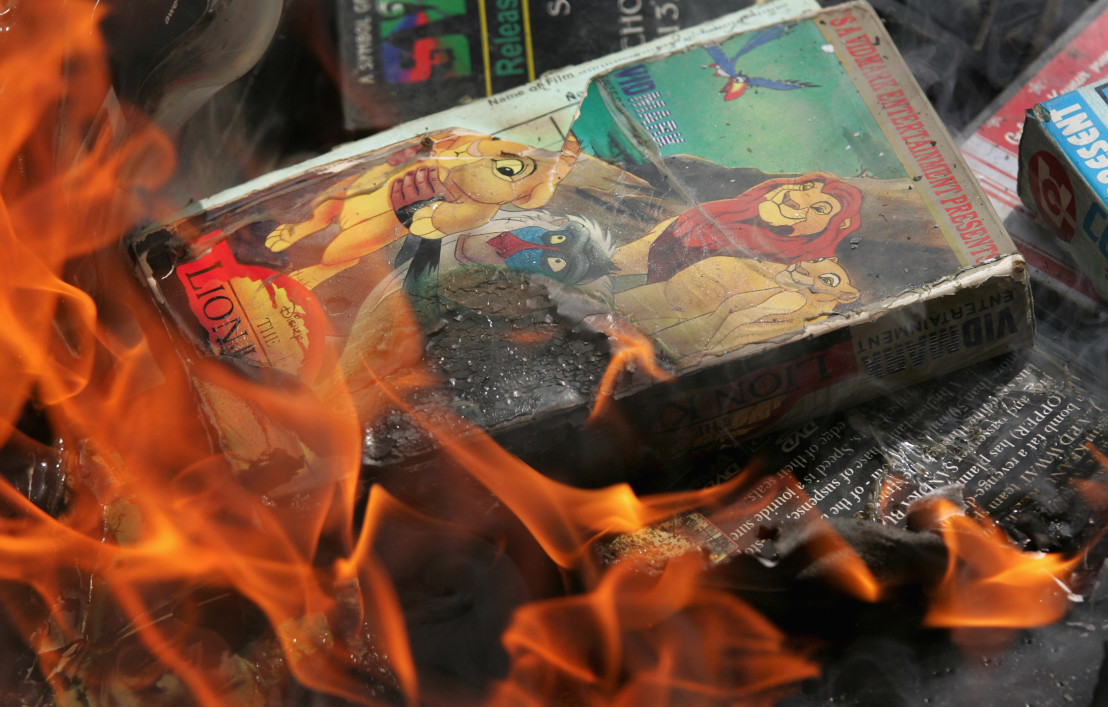 Islamic Madrassa Students Burn DVDs And Music Videos In Capitol