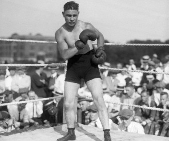 Harry Greb Standing In The Ring In Fightpose