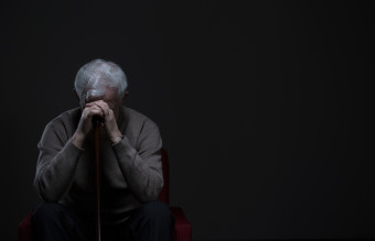 Elder man with depression