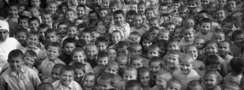 Orphans that survived the Armenian genocide.