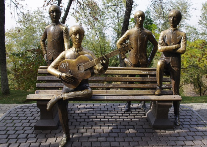 The Beatles on Green Hill in Almaty